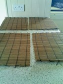 4 Bamboo Place Mats. Good condition.