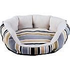 Small Round Canvas Pet Bed - Multicoloured. 870/87